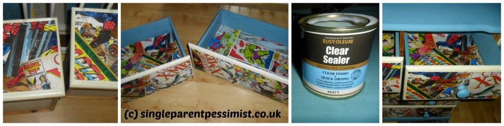 step by step upcycle and decoupage
