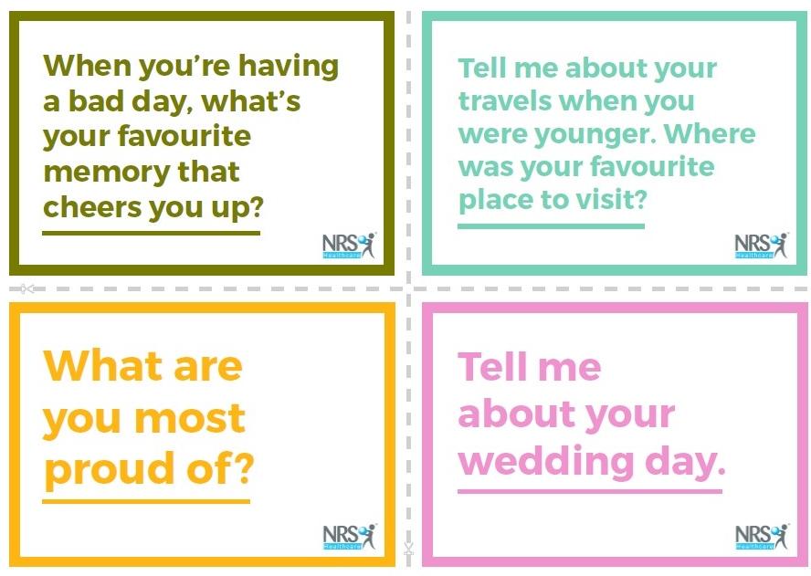 NRS Healthcare Dementia Conversation Cards